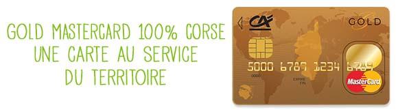 Carte Gold Credit Agricole.Credit Agricole Corse Gold Mastercard Corse